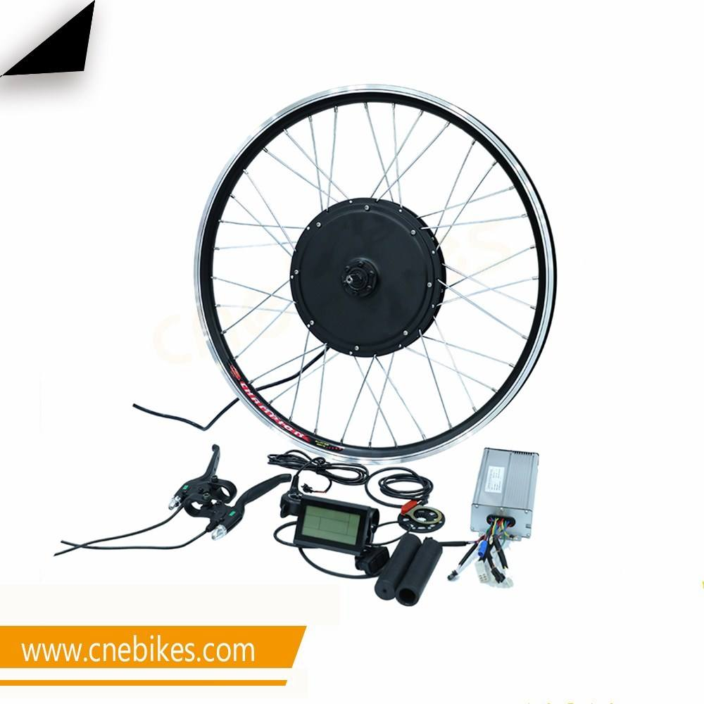 CNEBIKES gearless ebike wheel motor kit 1500w electric bike parts with LCD display