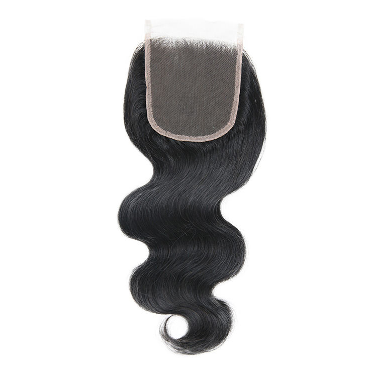 Grade 10A 4x4 5x5 6x6 Body Wave 150% Density Lace Closure