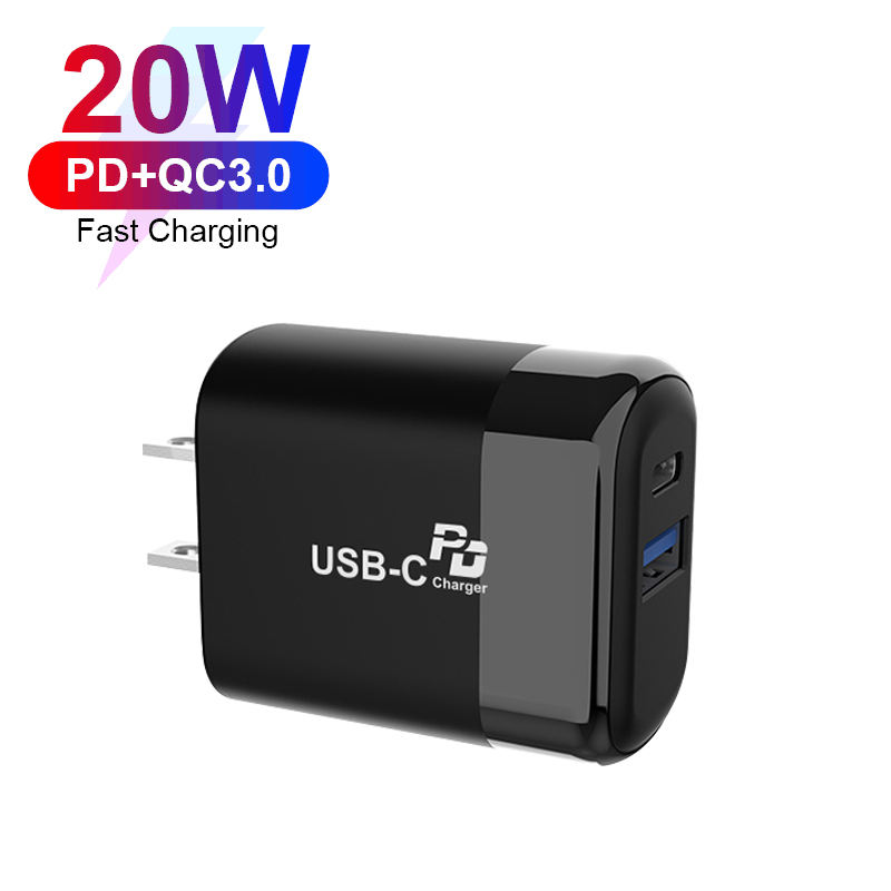 Cell Phone Charger 3A 2.22A 1.5A 20W Output USB Type-c Adaptor Power Universal World Travel Charger Adapter