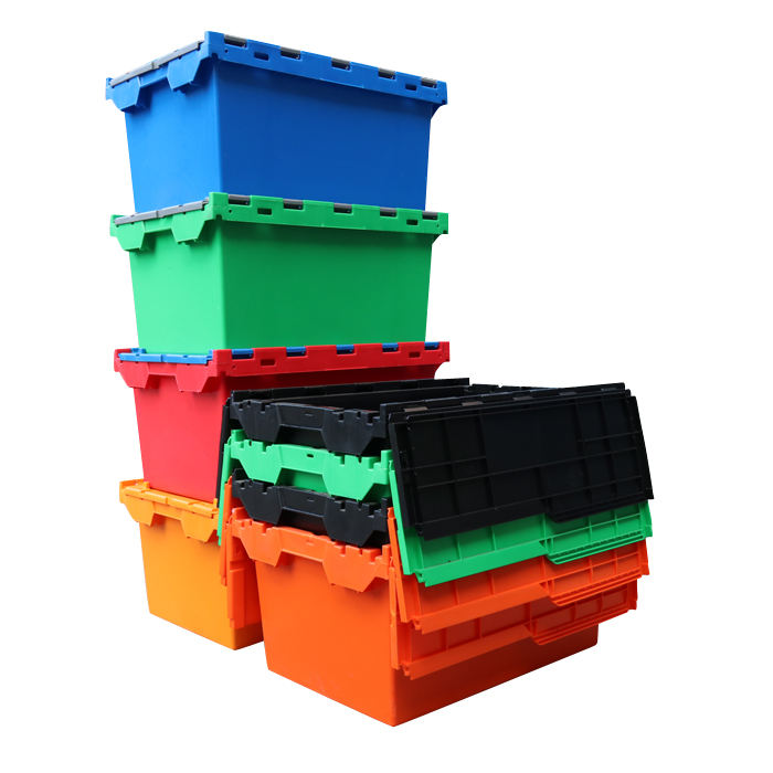 JOIN plastic storage container wholesale plastic moving box large stackable crates