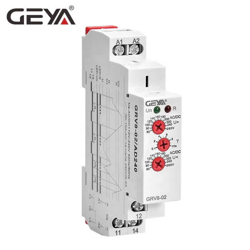 GEYA GRV8-01/02 Din Rail Overvoltage Circuit Protection Auto Voltage Regulator 240V with CE CB ROHS Certificate