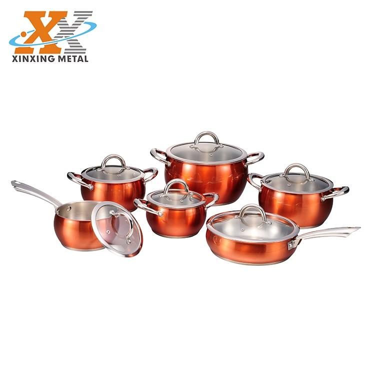 Cheap Price Stainless Steel Cooking Pot Set Well Equipped Kitchen Cookware