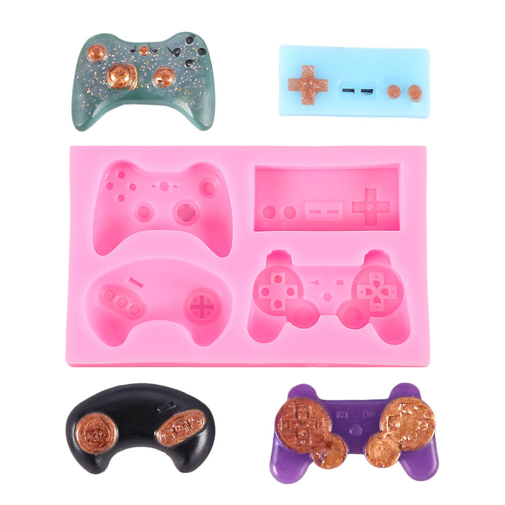 DIY Hobby Handmade Crystal Epoxy Silicone Molds Game Consoles Resin Racing Remote Control Mould Soft Clay Cake Decoration Mold