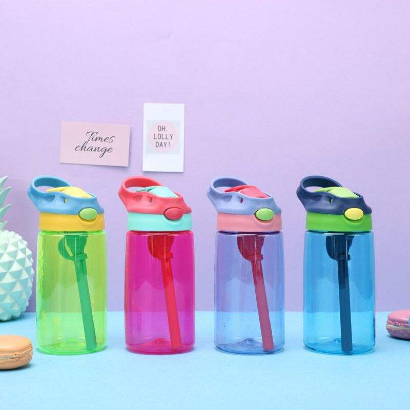 Feiyou 480ml bpa free kids plastic water bottle children school drinking juice cute 2020 kids water bottle with straw
