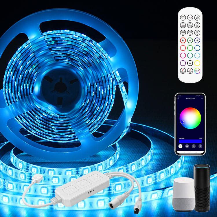 Tuya Smart Led Light Strip 5 Meter Dimmer RGB Remote Control Wifi Multifunction 5050 Waterproof Smart Led Strip