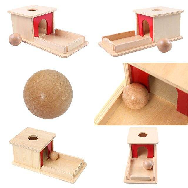 Amazon sell hot montessori wooden toys for toddlers Object Permanence Box with Tray