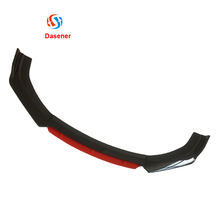 Honghang Factory Directly Supply New Style Car External Protector Front Lip, Black+Red  Glossy Universal Front Bumper Lip