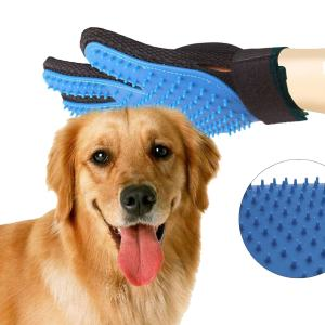 Hair removal glove pet Cleaning Brush Rubber pets fur hair remover Horse Cat Dog brush Grooming Gloves Massage glove
