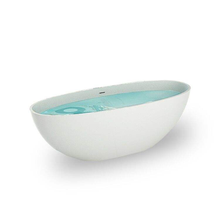 5 yrs after sales service Oval shaped modern design standalone solid surface bathtub acrylic resin stone freestanding bath tub