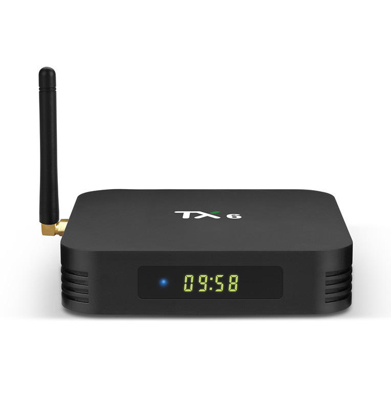 Tanix tx6 tv android box 4gb/32gb android 9.0 download user manual for tx6 with dual wifi 2.4g/5g smart tv box