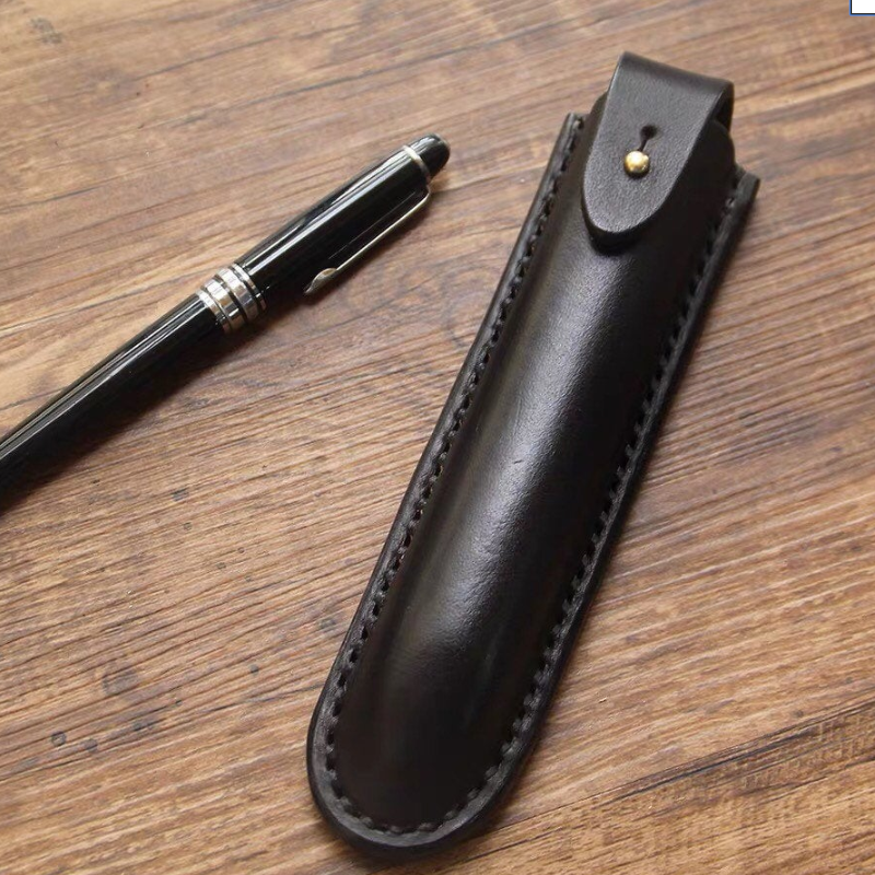 Genuine Leather Pen Cover Customization Pen Cases Pouch Durable Pens Holder