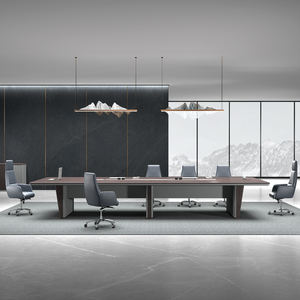 Moderne Luxe Grote Walnoot 5m 10 persoon office conference meeting boardroom tafel