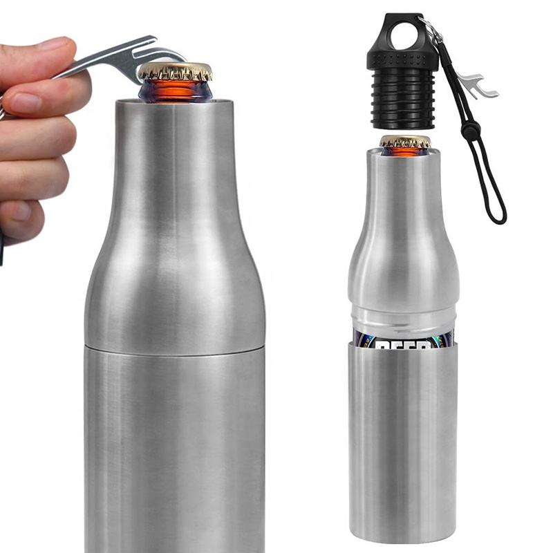Wholesale Double Wall 12oz Stainless Steel Beer Holder Water Bottle Cooler Wine Bottle Holder