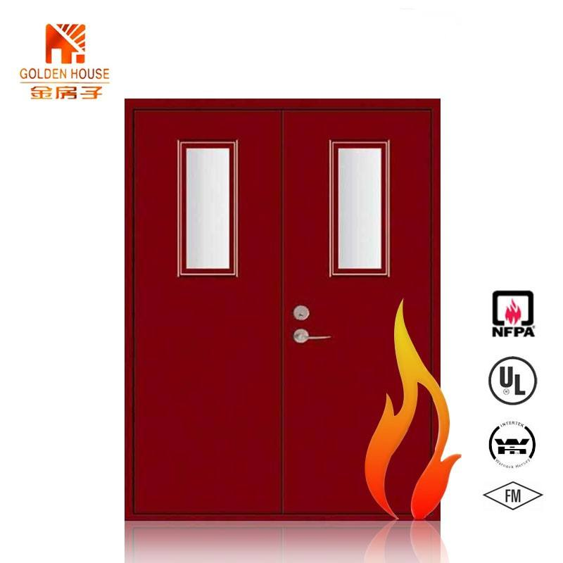 GH UL list fire rated double steel hospital school commercial door