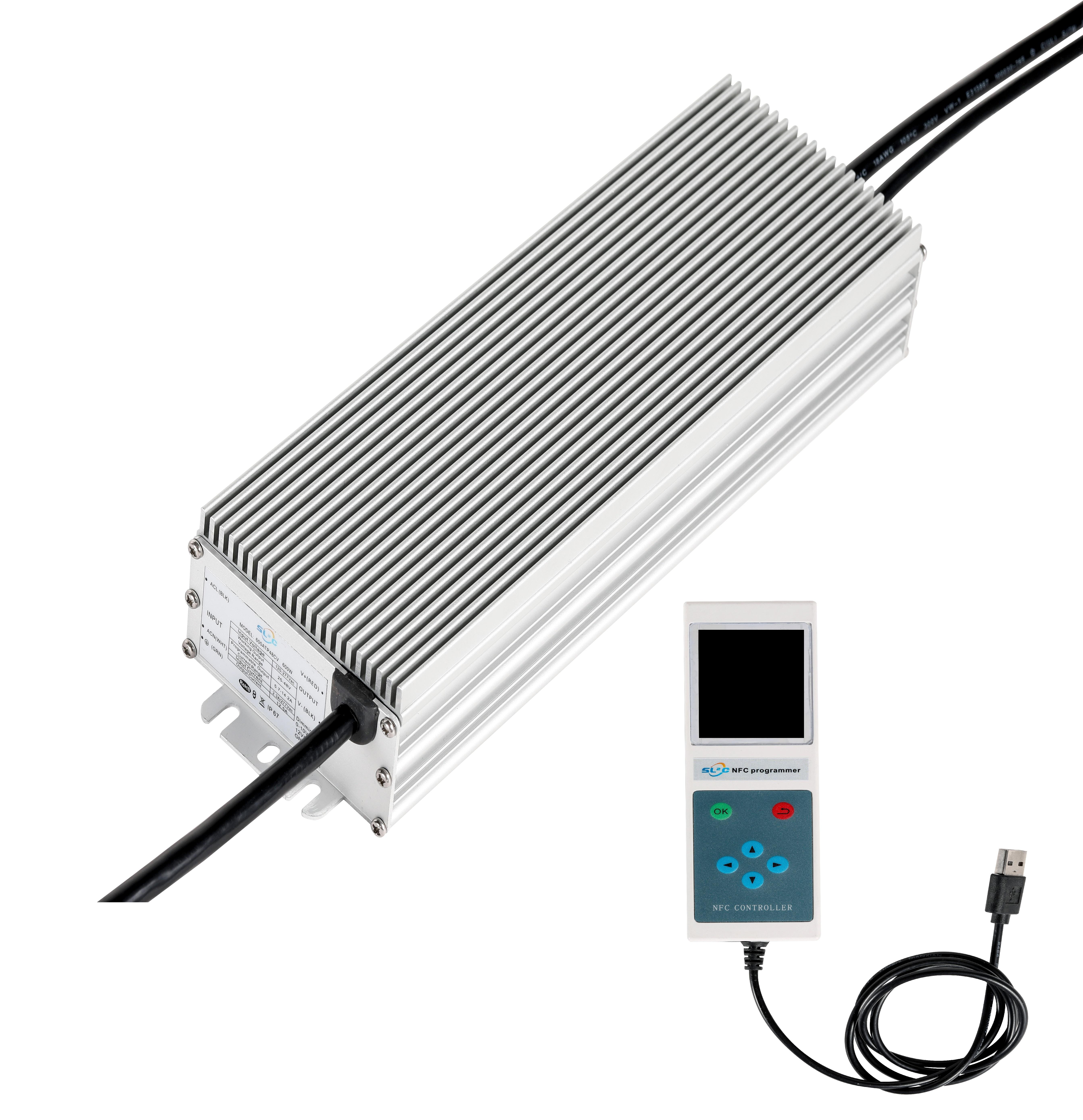 12v Driver 12V 400W 500W 600W 680W Grow Lights Used Programmable LED Driver Powersupply 400ATP36CV 18-36VDC HLG