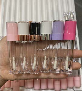 Wholesale lovely Round 4ml 5ml 6ml Lip Gloss Packaging with Wand Empty custom pink lipgloss tube