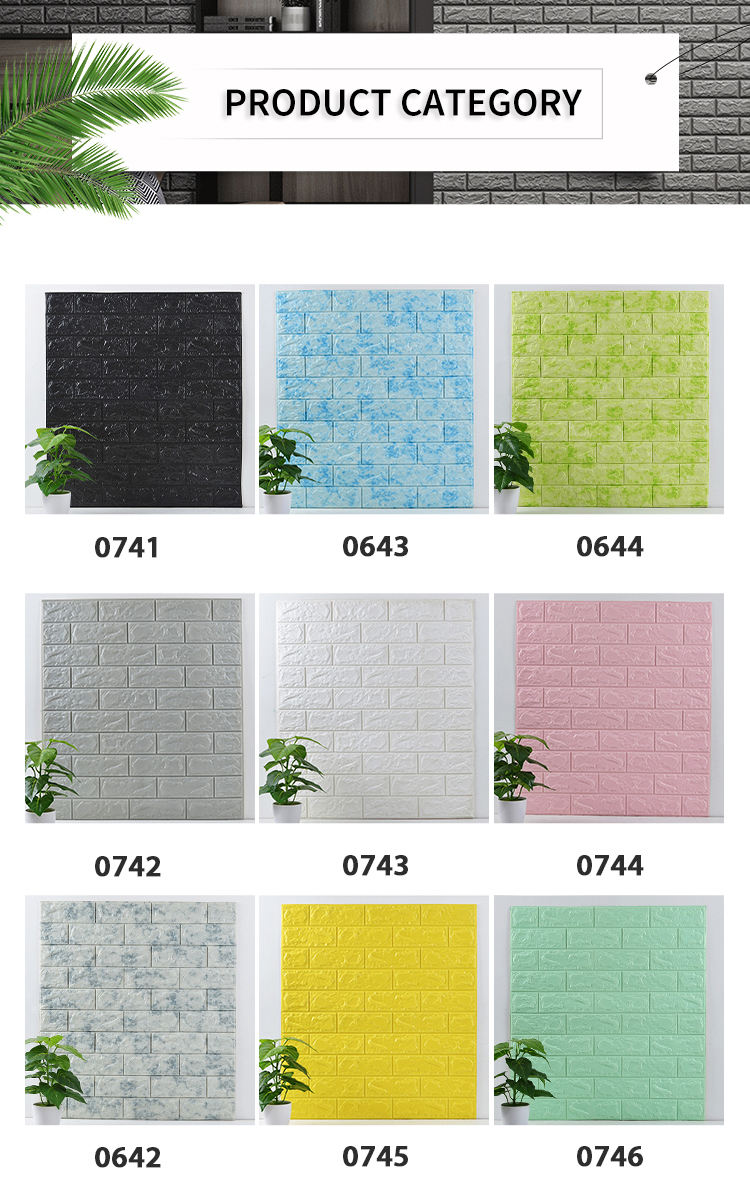 Background Wallpapers 3D PE Foam Wall Brick Stickers /papel de pared panels Wall Coating