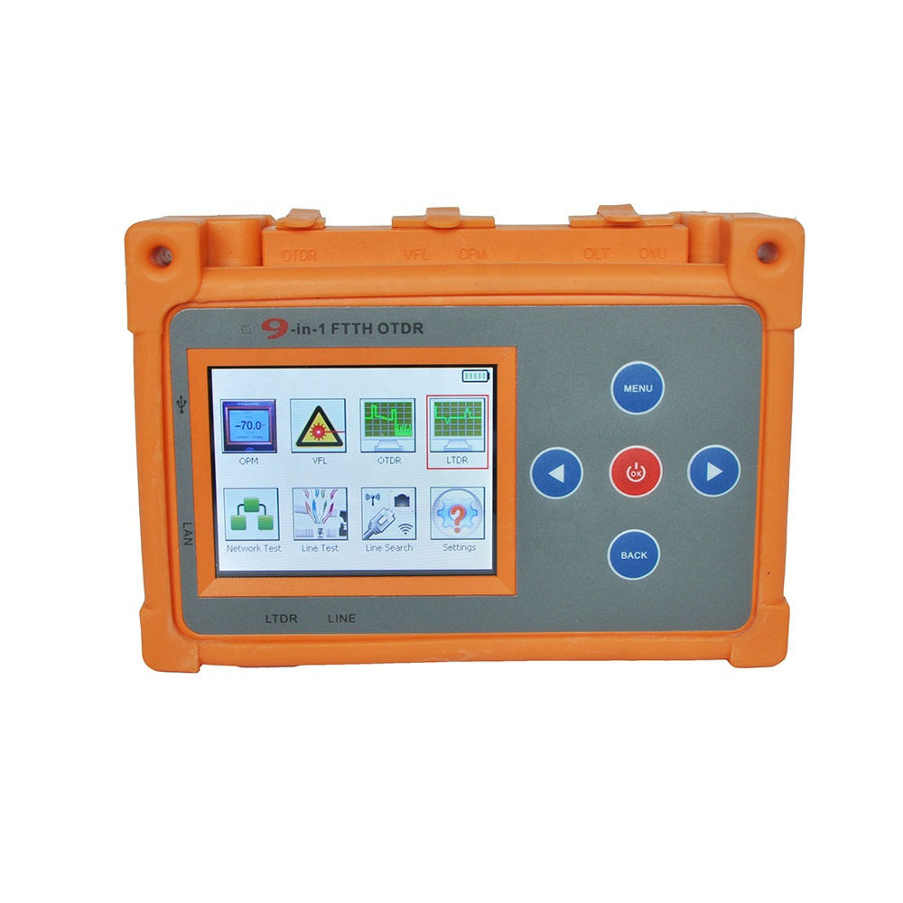 9 in 1 ftth palm mini handheld used new 45db optical time domain reflectometer testing 1310 1550 1650 olts otdr price in india