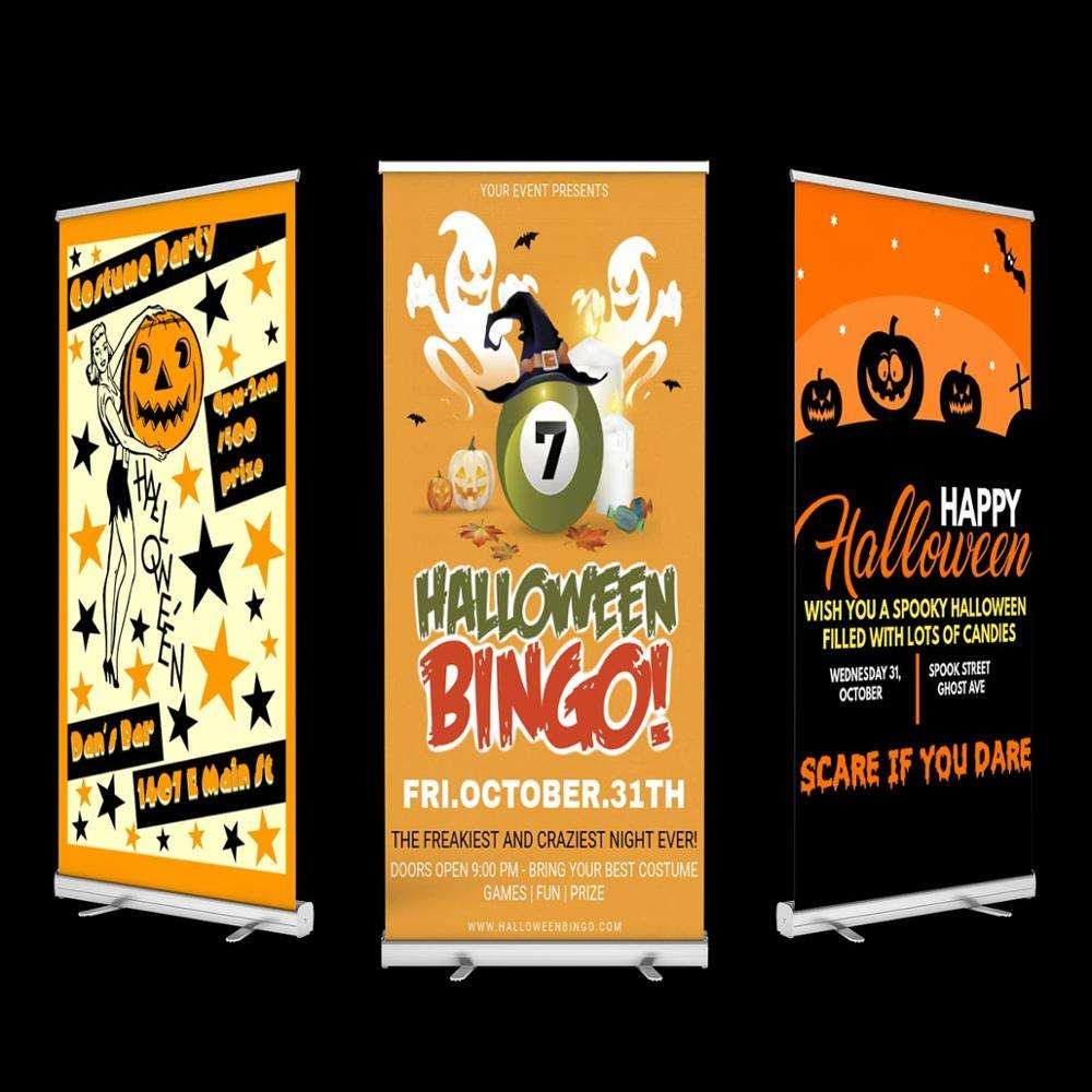 Custom trade show retractable banner roll up banner wholesale retractable banner