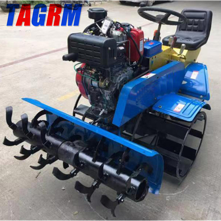 Good farming helper mini rice field rotary tiller/rice tilling machine factory price for sale