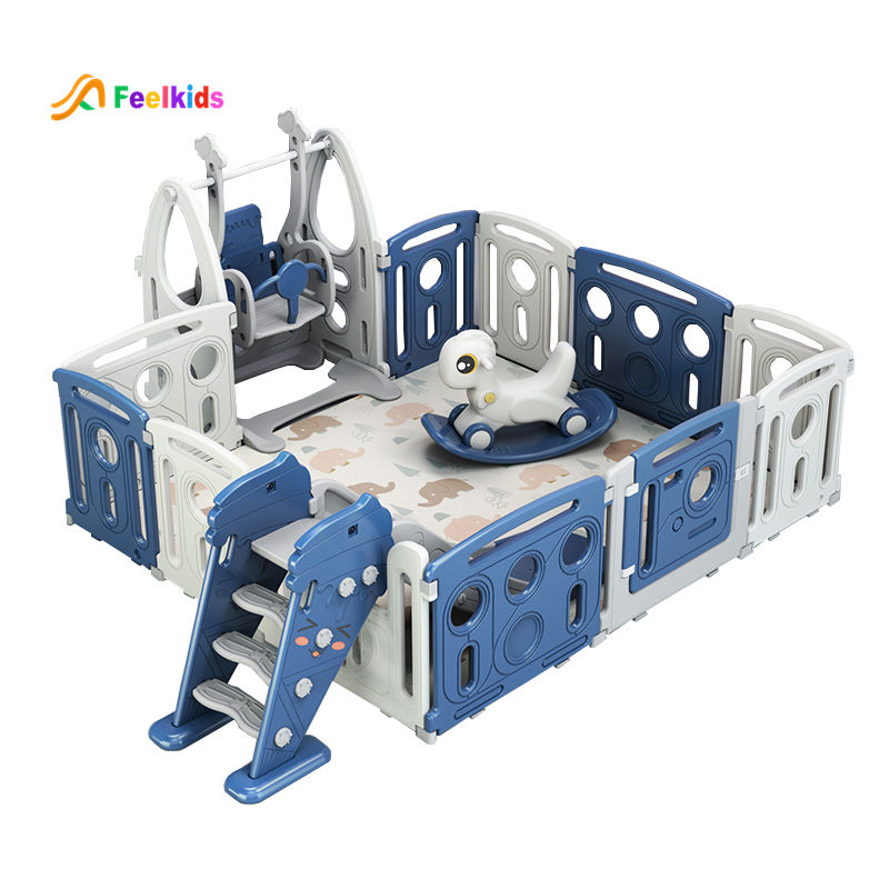Hot sell new design kids play yard Children indoor playground fence cheap toys plastic safety baby playpen