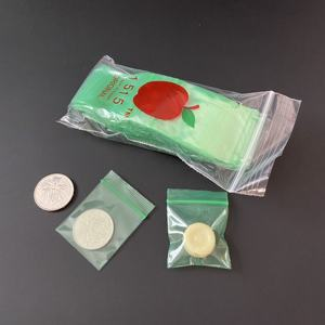 Qingdao Factory Mini ziplock bags with apple brand