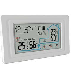 Wireless indoor and outdoor weather station clock
