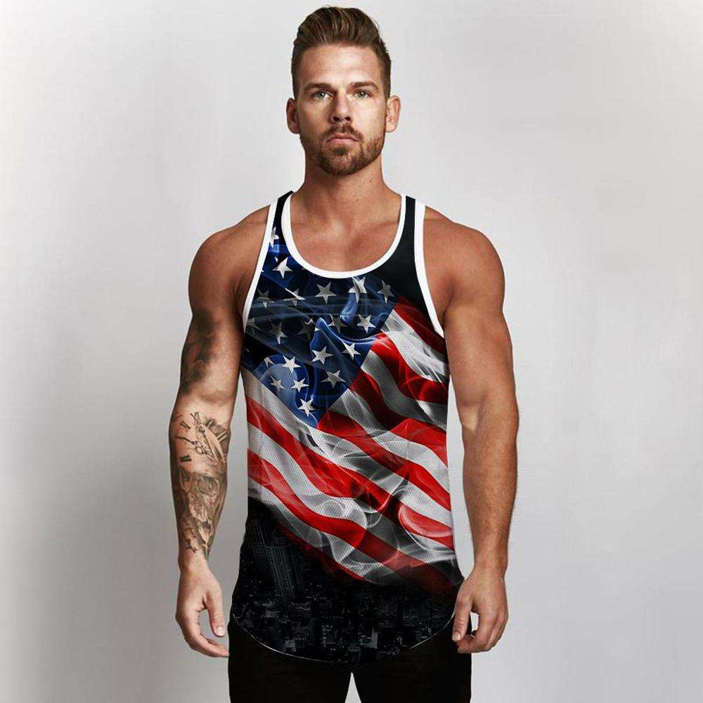 custom male sportswear vest wholesale man's printing gym tank top