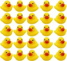 Wholesale Bulk Lot Baby Bath Water Duck Toy Sounds Tiny Mini Yellow Rubber Ducks bath toy