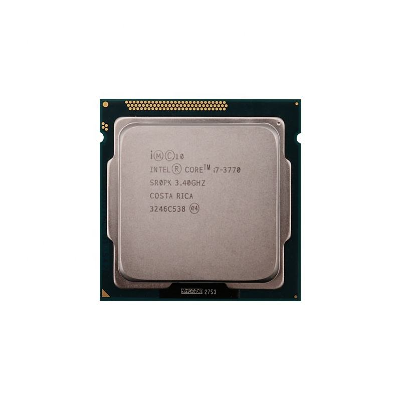 For Intel Core 3 i7 3770 Quad CPU Desktop Processor 3.4GHz 77W 8MB Cache LGA 1155 Desktop i7 3770 CPU Processor