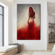 Woman In Red Sexy Erotic Nude HD Wall Art Canvas Posters Prints Painting Wall Pictures For Modern Living Room Home Decor Artwork