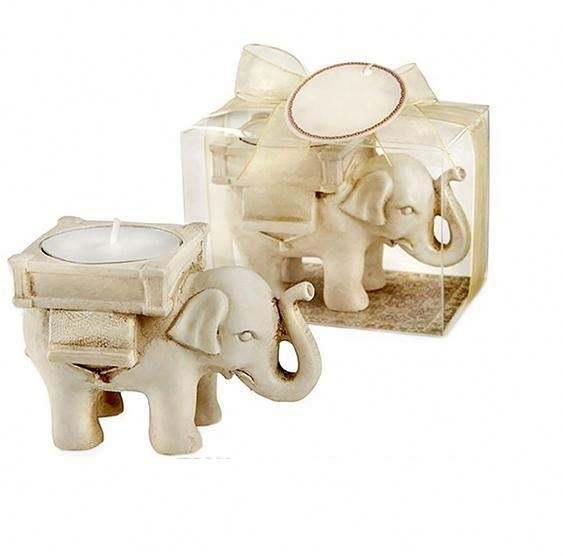 Wedding Favor Home Decor Lucky Elephant Tea Light Candle Holder Candlestick Wedding Valentine's Day Romantic Supplies