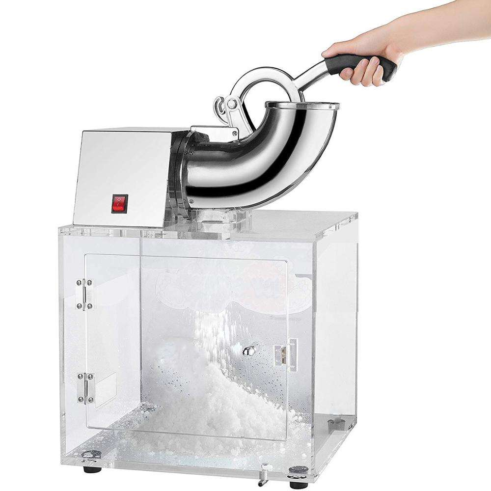 WF-A109E Acrylic and Stainless Steel Ice Block Crusher Slicer Snow Cone Machine for Commercial Use