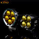 Lito new car and motorcycle LED50w white and yellow spotlights highlight LED five beads high quality round headlights
