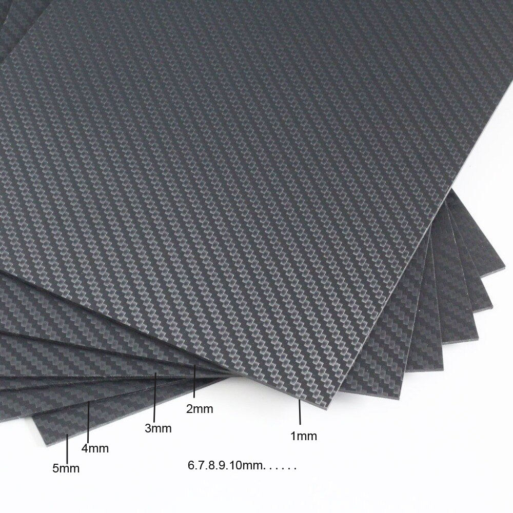 Custom Cnc Koolstofvezel Sheets Koolstofvezel 3K 10 Mm 25Mm Plaat Panel Sheet Board Cnc Carbon Fiber vel