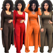 C91776  new style European and American fashion casual suit woman's elastic knitted 3 piece set night club clothes set  lady