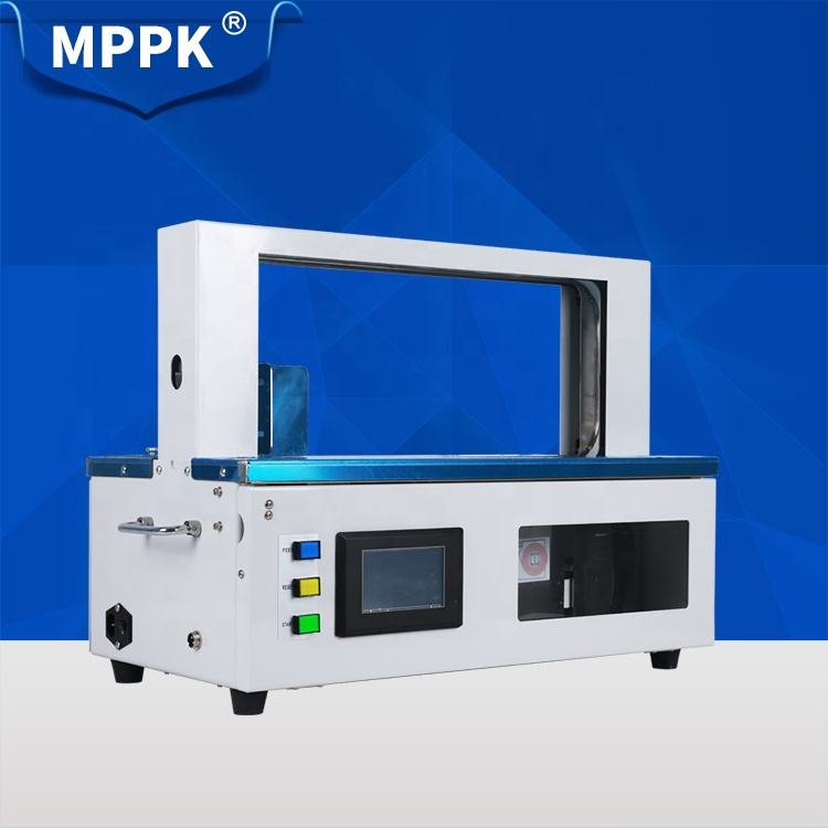 MPPK TP SM210-20/30 Cloth Print cards Bundling machine Automatic OPP Film Strap Paper Banding Machine for Small Things Objects