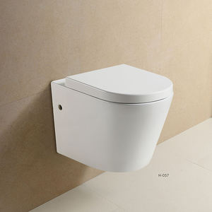 Italy Ceramic Geberit Concealed Cistern Rimless Wall Mounted Toilets