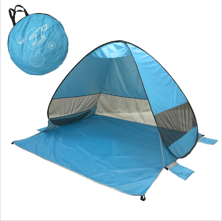 1-2 Persoon Strand Tent Waterdicht Slip <span class=keywords><strong>Outdoor</strong></span> 2 Seconden Strand Shading Tenten