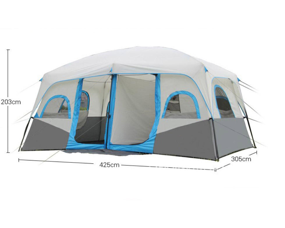 Two Room And One Hall Outdoor Camping Tent