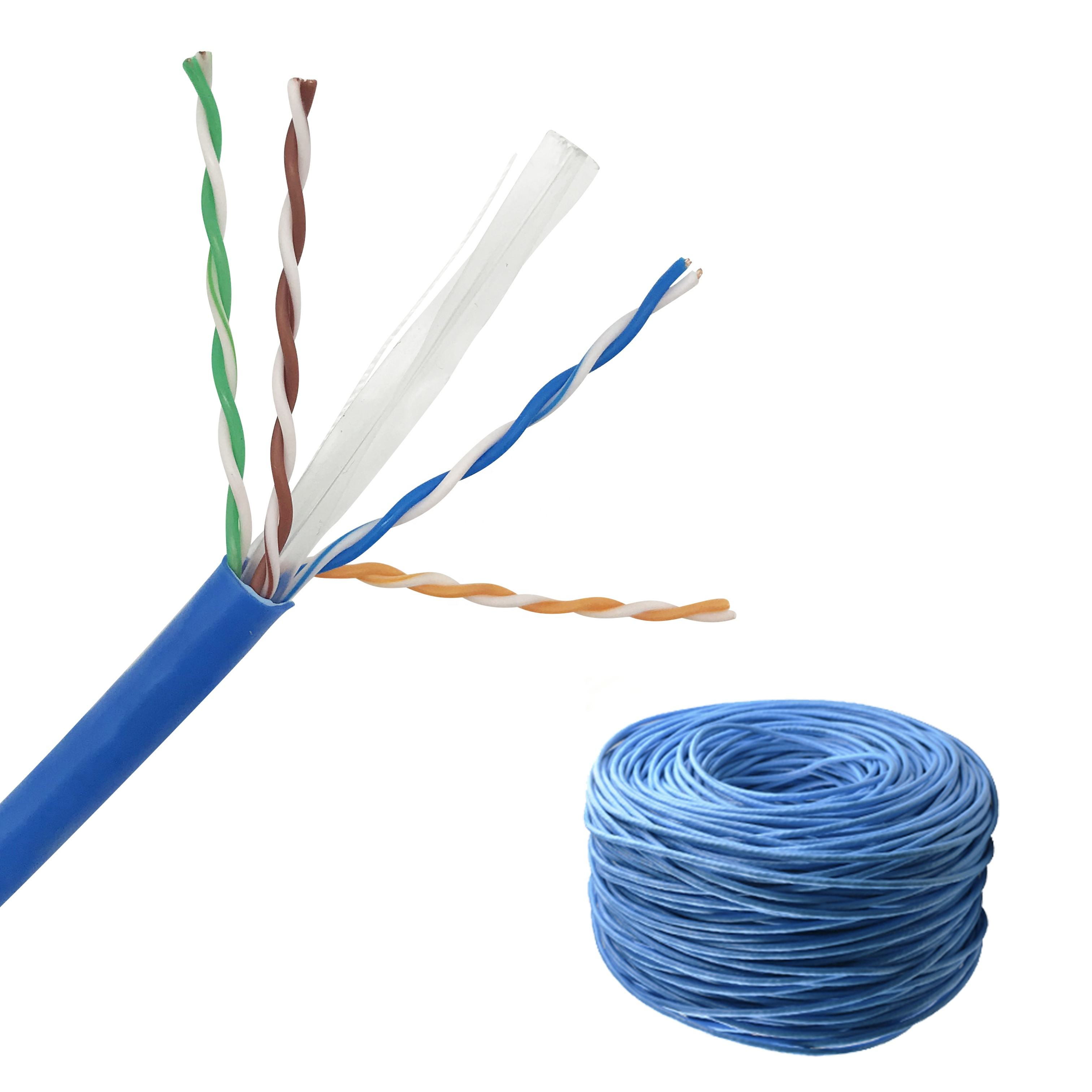 CAT6 UTP LAN Kabel Mudah Pull Box 305 M Test 4 Pair 24 AWG Cobre Kabel De Merah RJ45 Cat6 UTP 1000ft