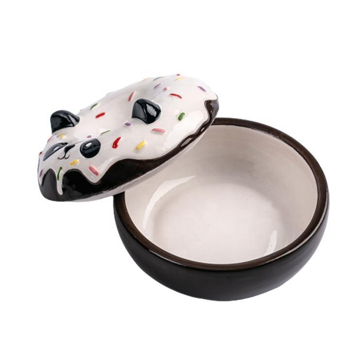 Caixa de Jóias Anel de Panda E Donut Projeto Private Label