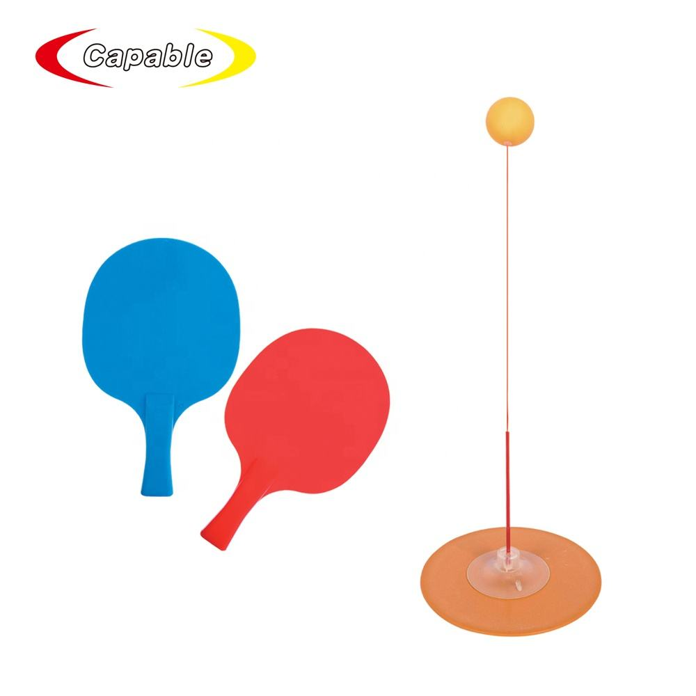 Yunt-11 Table Tennis Trainer Rebound Table Tennis Practice Ball Portable Elastic Shaft Pingpong Trainer,with 3 Balls,2 Ping Pong Paddle and 1 String Ball Stand