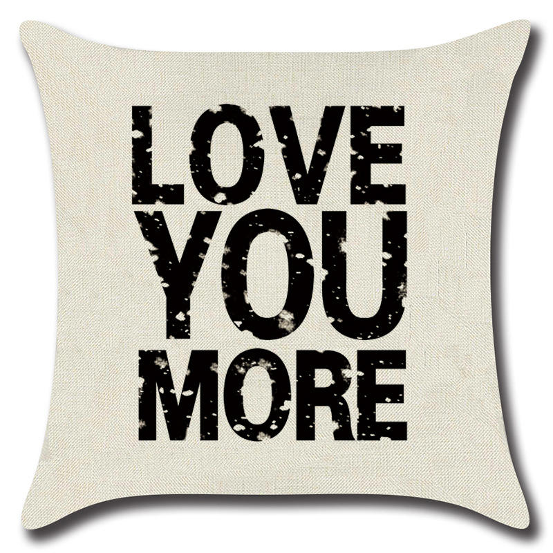 Modern Phrase Simple Lettering Throw Pillow Covers Cotton Linen Cushion Cases