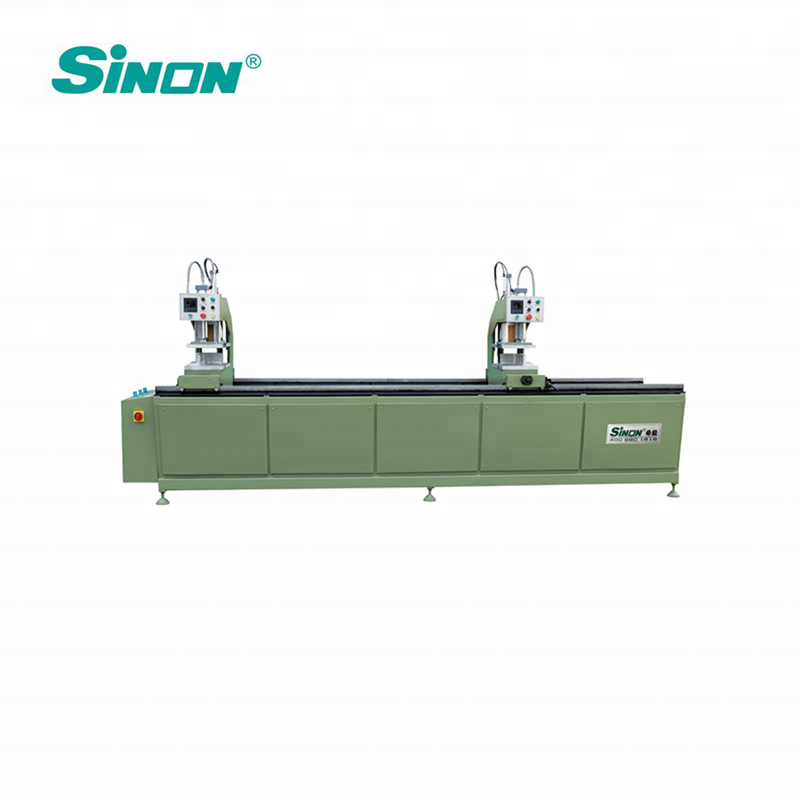 Japan Omron PLC 120mm double head upvc window and door welding machine