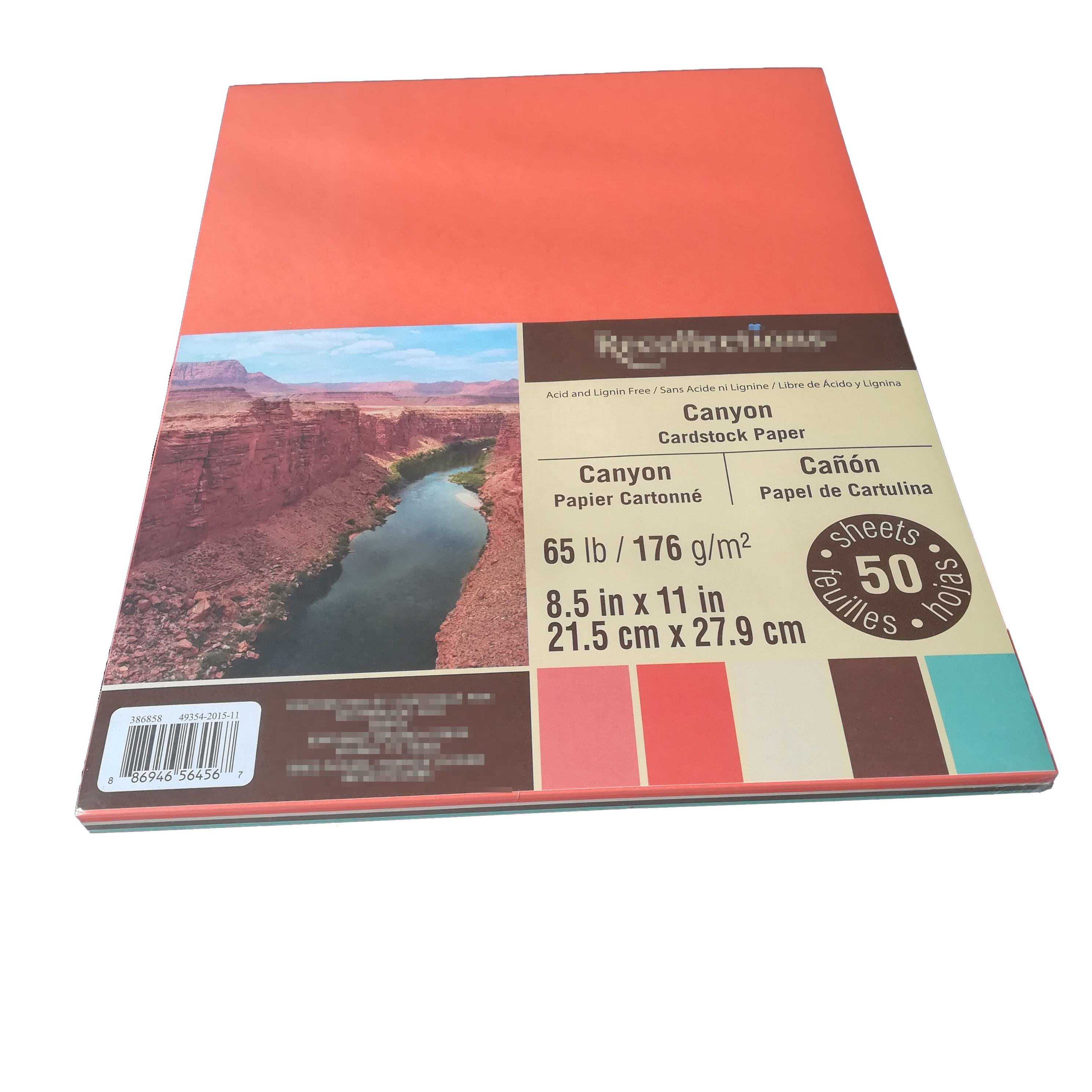 100% Virgin Wood Pulp 180g A4 216x279mm Size Color Paper For Handicraft