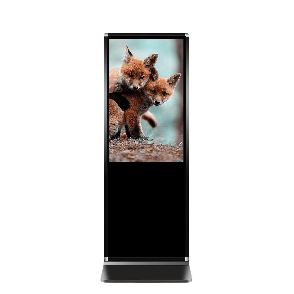 Full hd interattivo coperta hd chiosco pavimento free standing open frame digital signage pubblicità display a cristalli liquidi