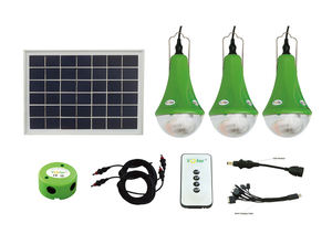 Green energy solar power system home 3-12w solar panel all in one led home light for outdoor LED Raw Materials