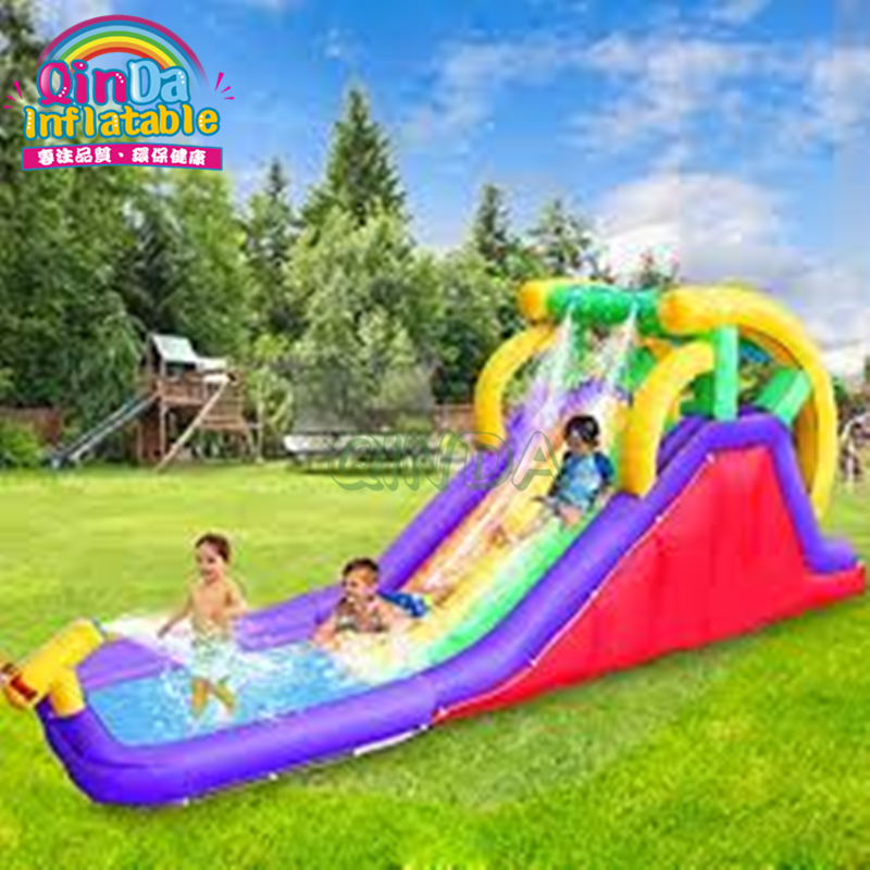HOT new design hippo custom water slide for adult / funny adult and child size giant inflatable water slide with pool