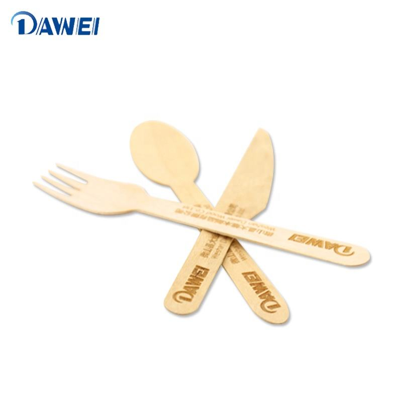 Cheap disposable wooden cutlery set wooden spoon knife and fork